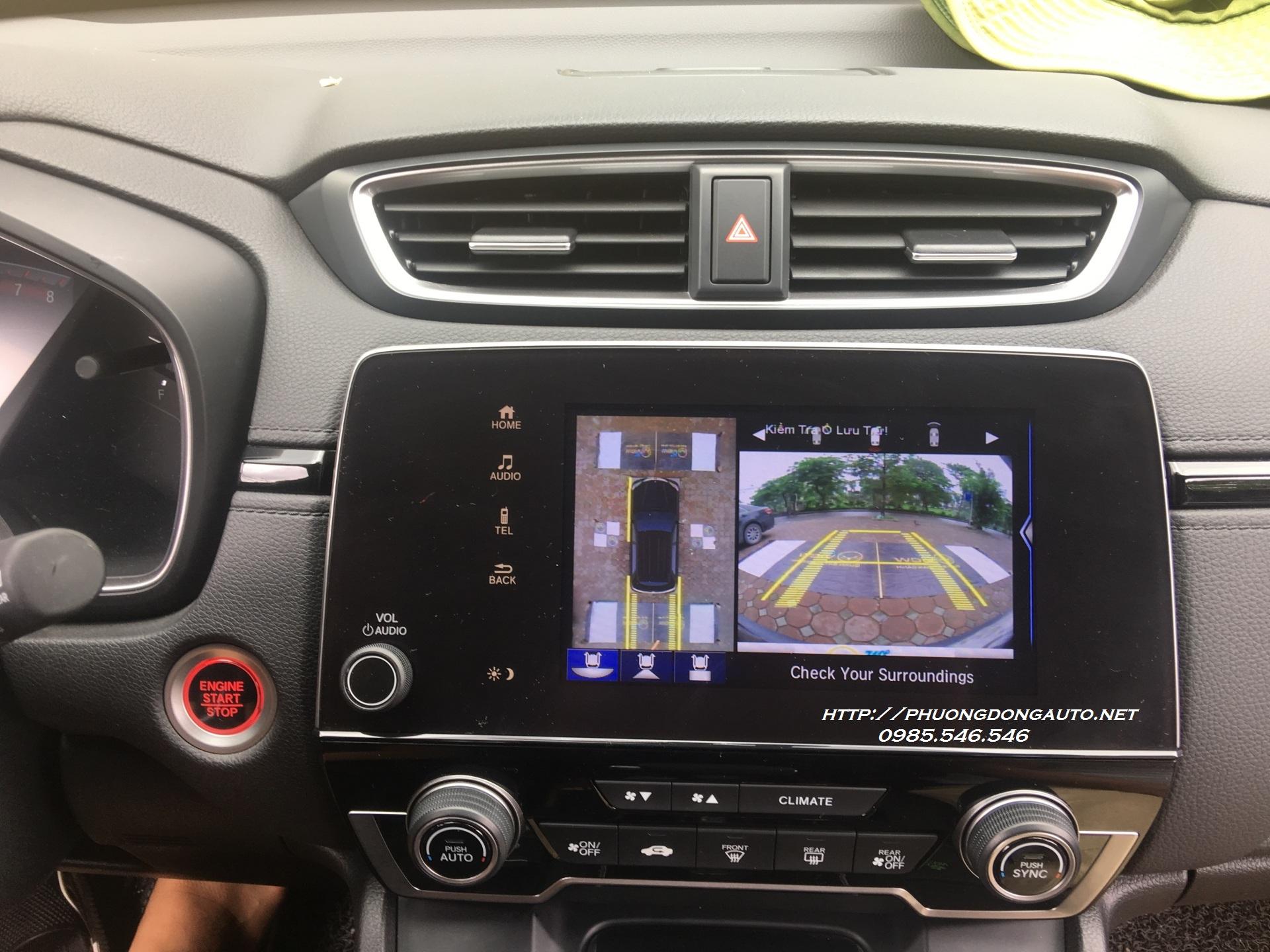 Camera 360 Oview pro cho HONDA CRV 2018 – Lắp đặt chuyên nghiệp