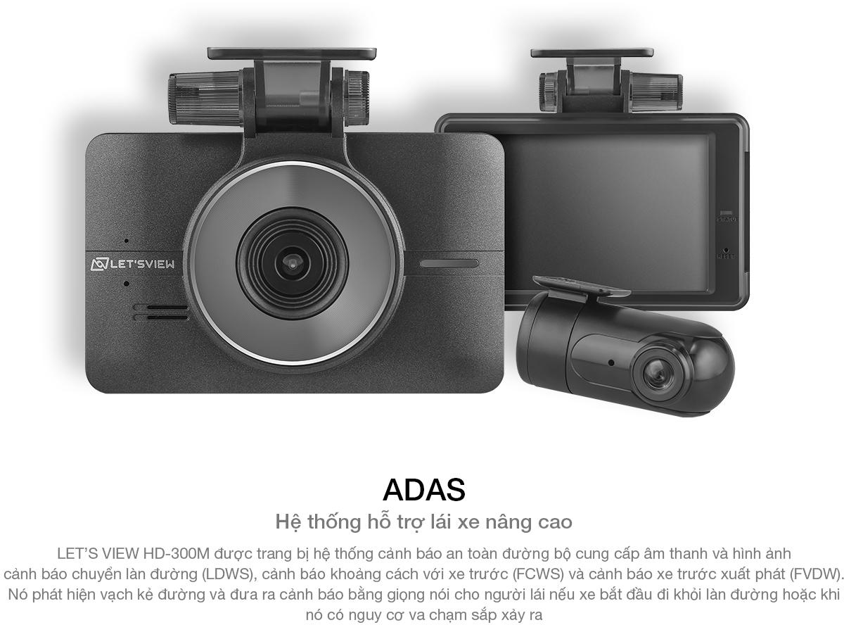 Camera hành trình LET'S VIEW HD300M ( Chính hãng tại Hàn Quốc)