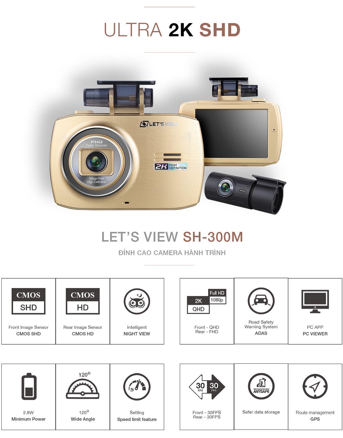 Camera hành trình LET'S VIEW SH300M