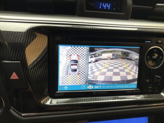 Lắp camera 360 DCT Toyota Altis