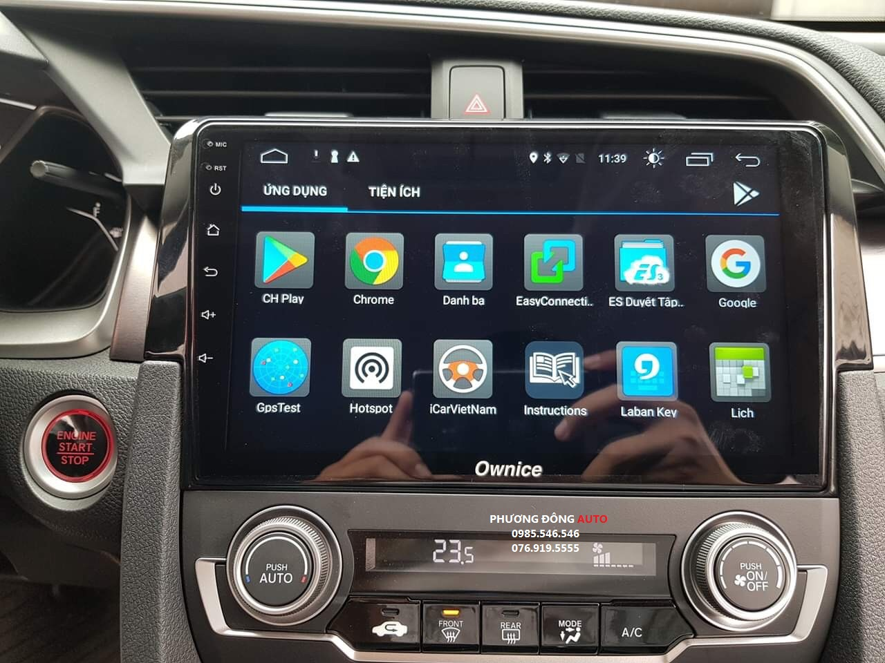 DVD Android theo xe Honda CIVIC 2019