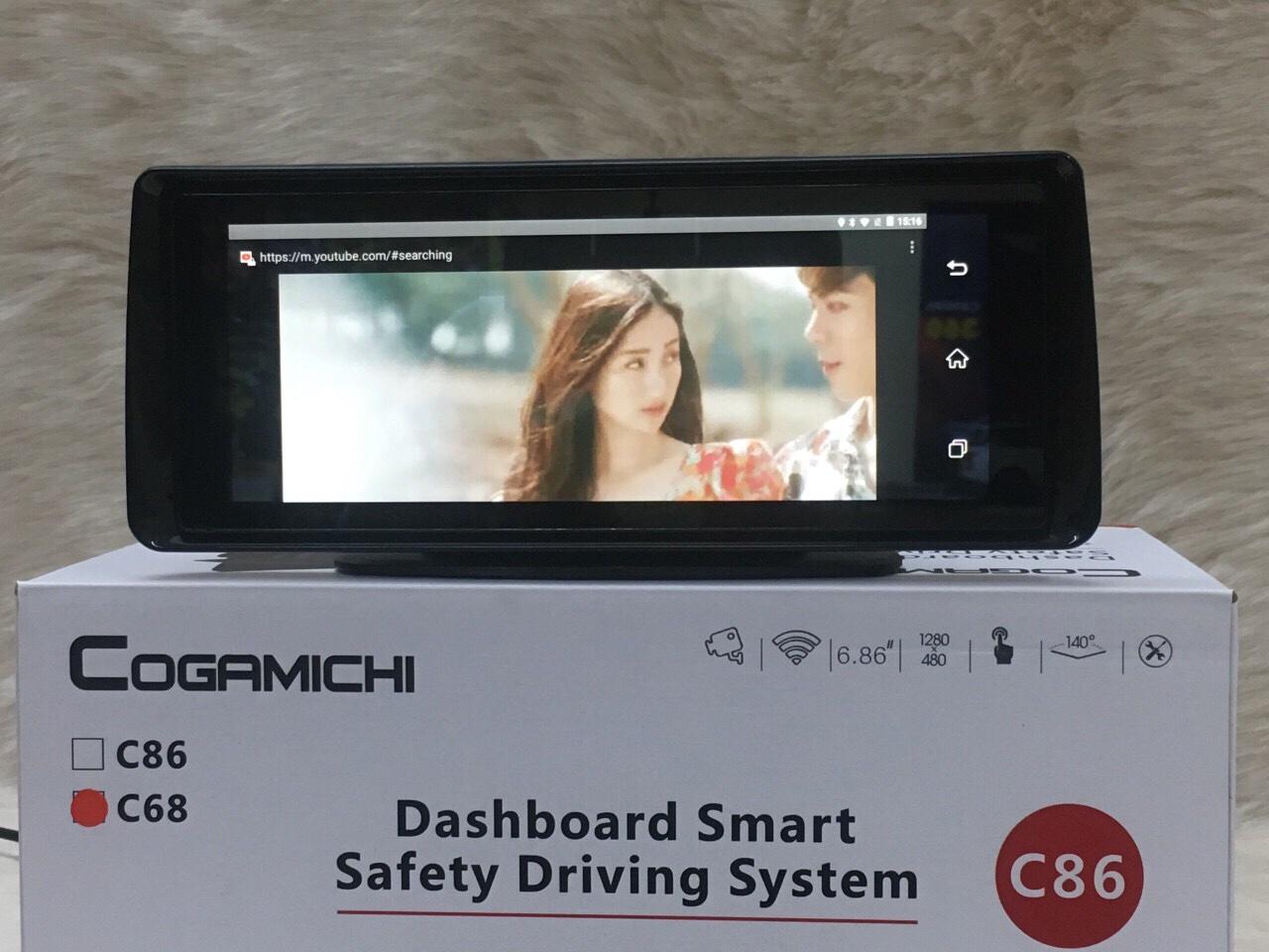 Camera hành trình mặt taplo Gogamichi C86 | Camera Android Sim4G