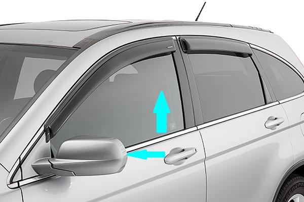 Gập gương lên kính ô tô
