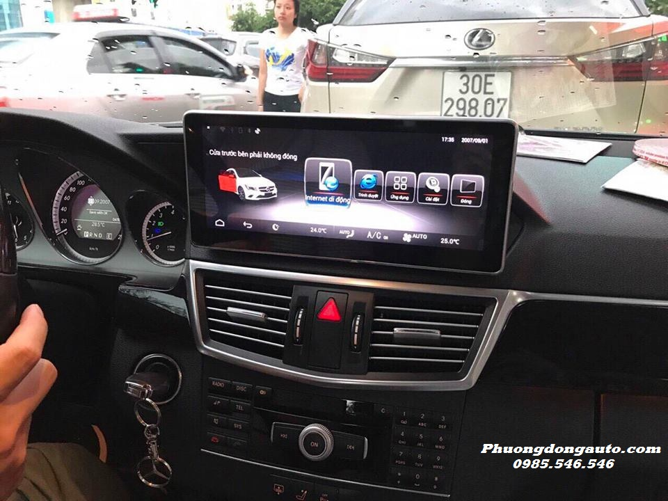 DVD Android theo xe Mercedes C250 | Hàng Cao Cấp