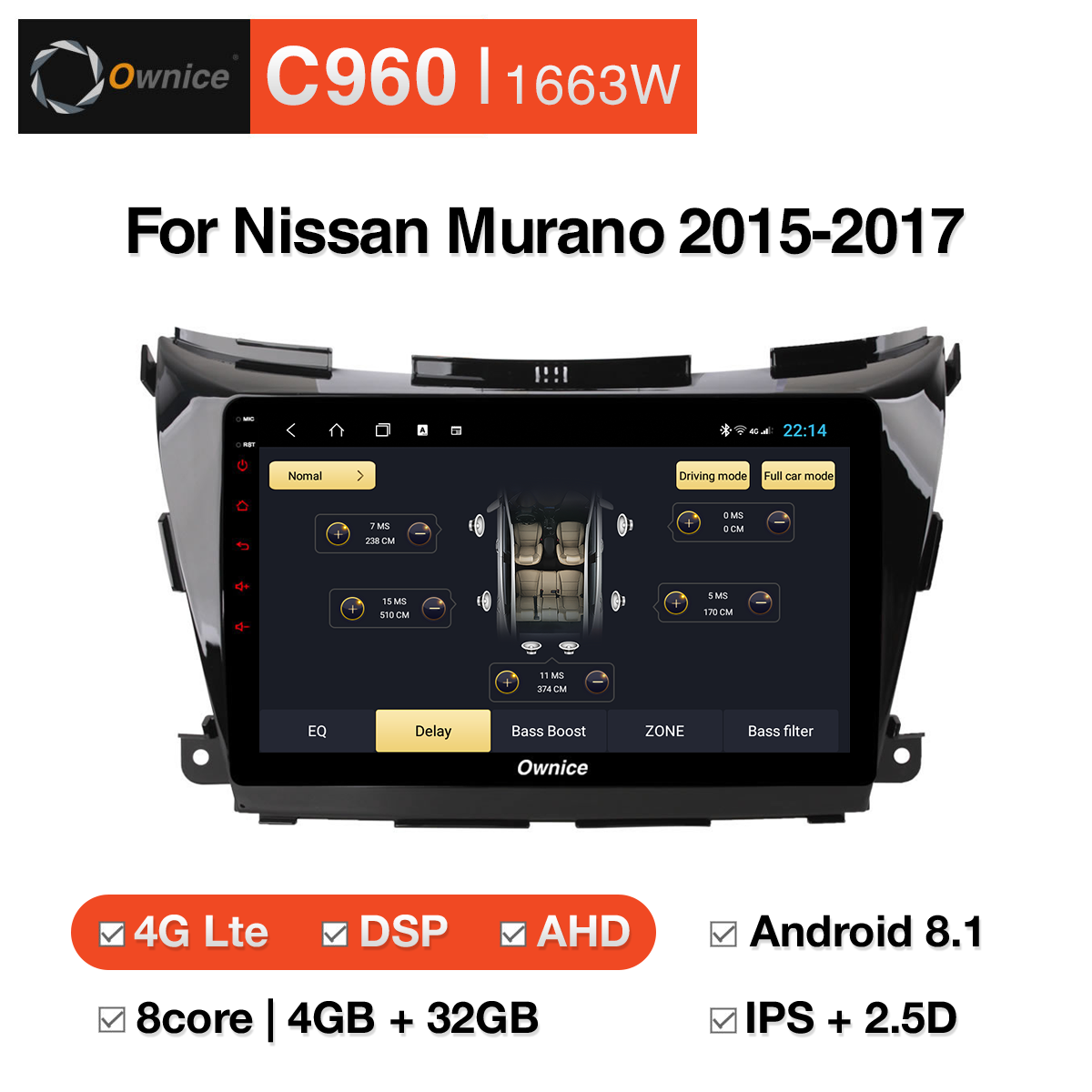 Tổng hợp DVD Android Ownice C960 cho Nissan