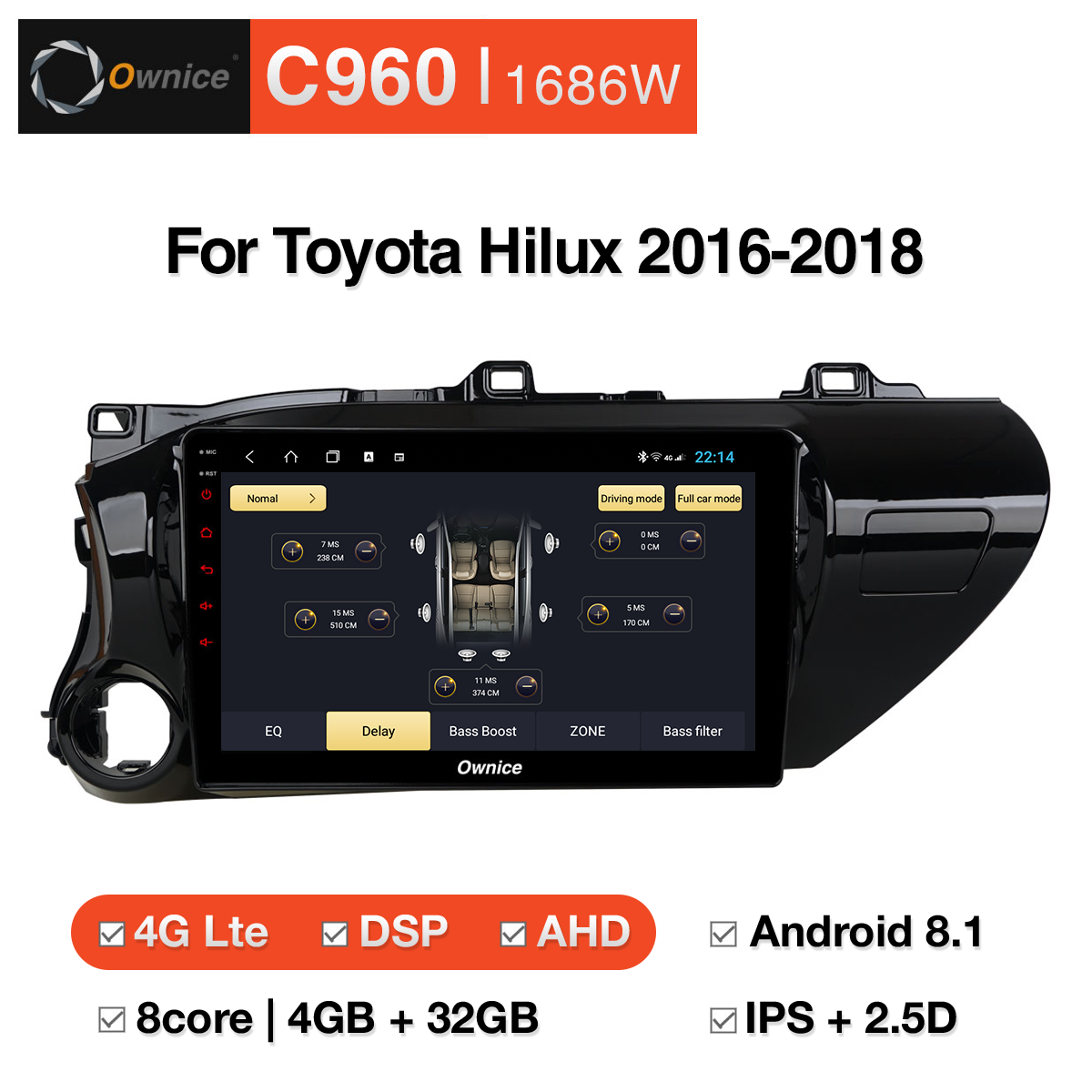 Tổng hợp DVD Android Ownice C960 cho Toyota