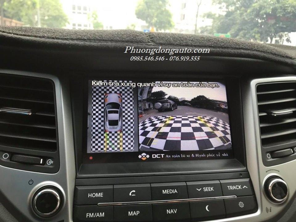 Lắp Camera 360 DCT cho Hyundai Tucson 2018 bản T2