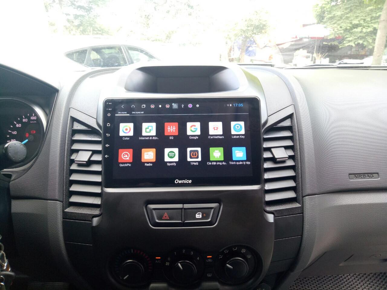 DVD Android Ownice C960 theo xe Ford Ranger