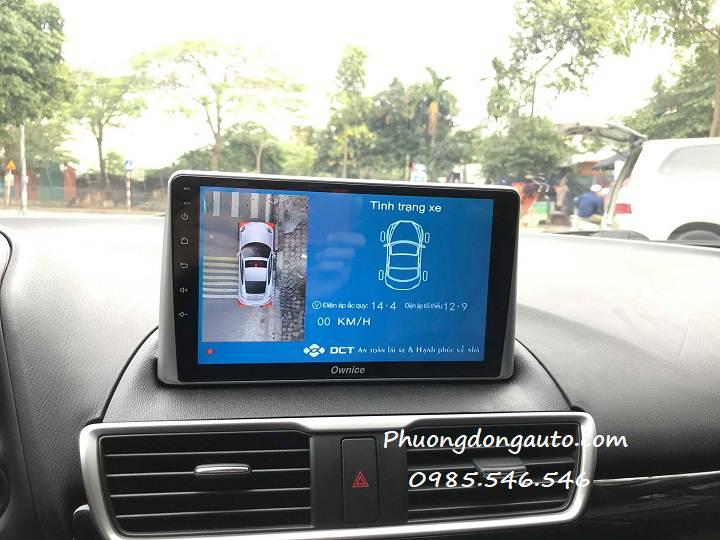 Mazda 3 lên C960 optical và Camera 360 DCT T3 | Cực cao cấp