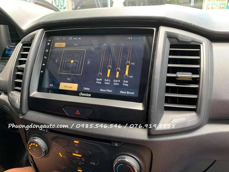 Màn Android Ford Ranger 2020