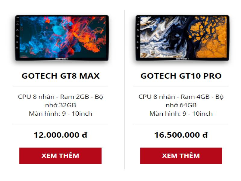 Màn Android Gotech GT10 Pro