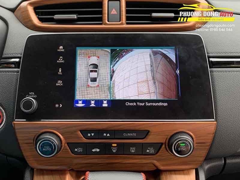 Lắp camera 360 cho Honda CRV 2020