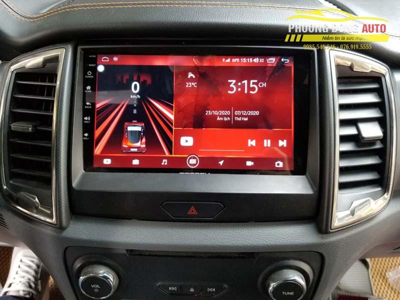 Màn hình androi cho Ford Ranger chính hãng Gotech