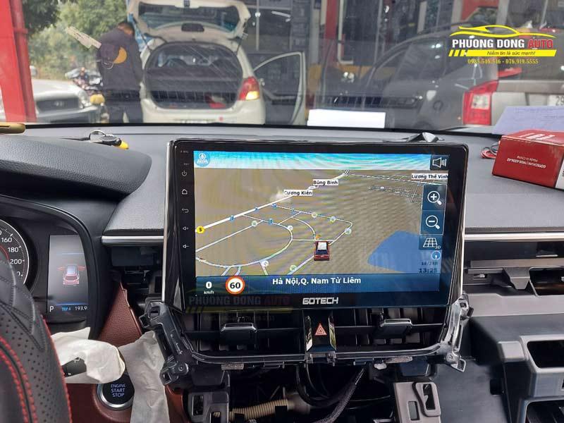 Màn hình android Gotech cho Toyota Cross5 điều chú ý Khi Lắp màn hình Android cho ô tô