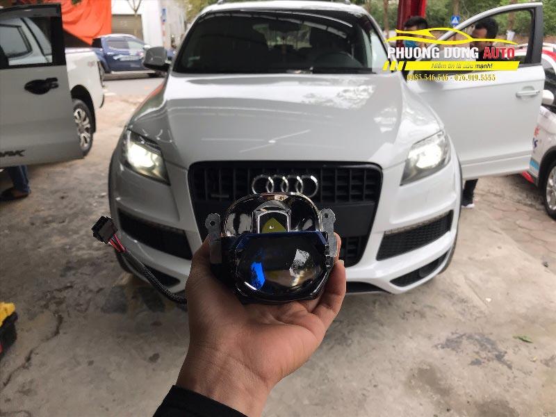 Độ đèn Audi Q7 Cực chất với bi Laser Tirtim S600