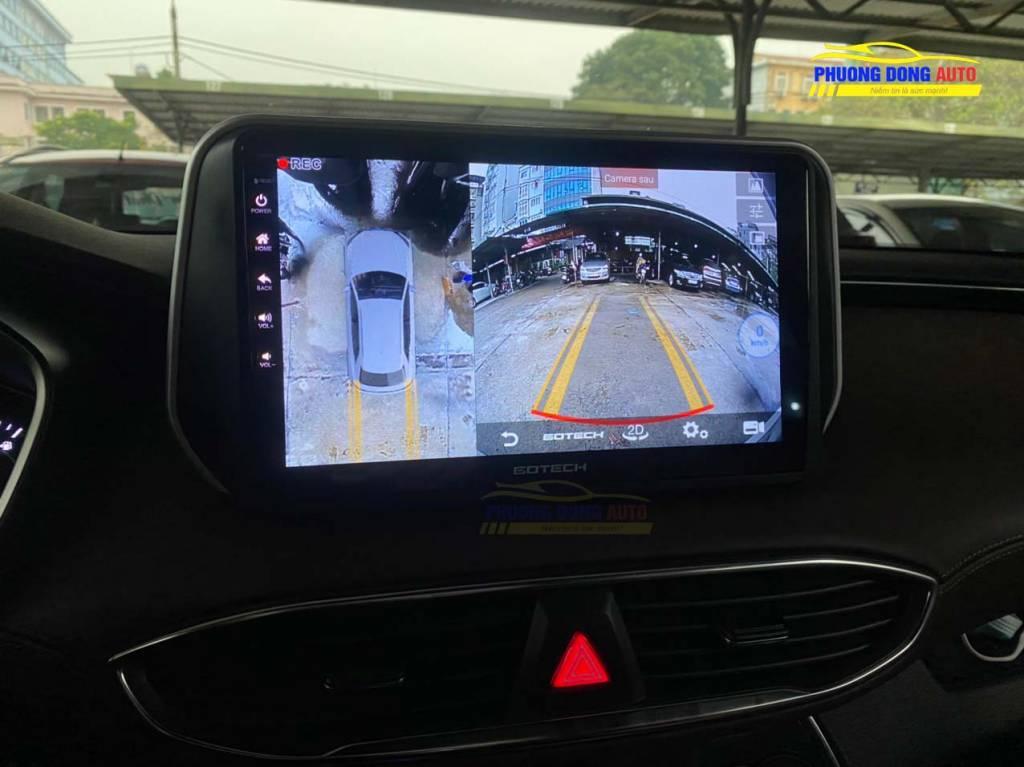 Màn hình liền Camera 360 Gotech GT360 Santafe 2020