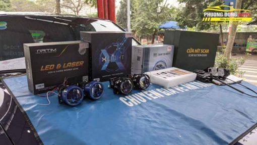 Độ đèn Vinfast Lux SA với vua bi led Xlight V30 ultra