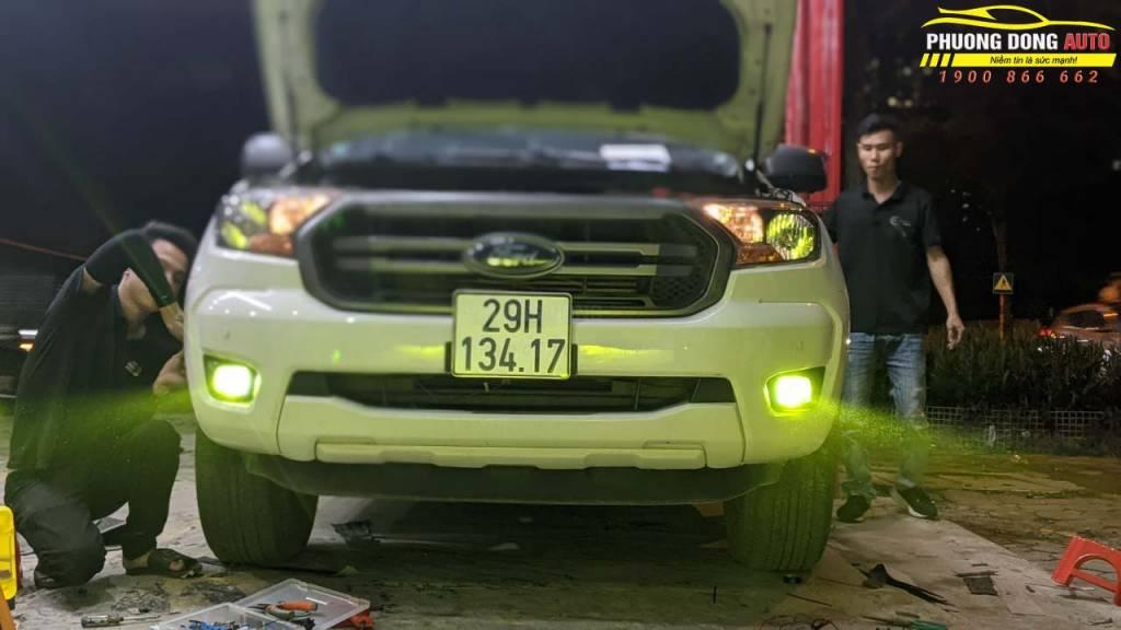 Độ đèn gầm Ford Ranger quá sáng với Xlight F10