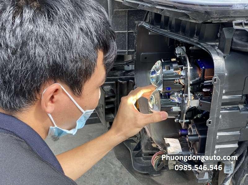 Độ đèn bi Hyundai Santafe 2020 | Nâng cấp bi pha cho Santafe 2020-2021