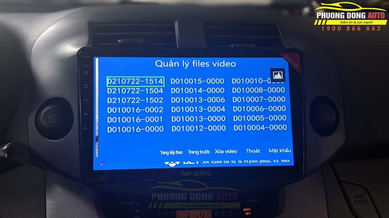 Camera 360 độ Toyota RAV 4 Chính hãng DCT
