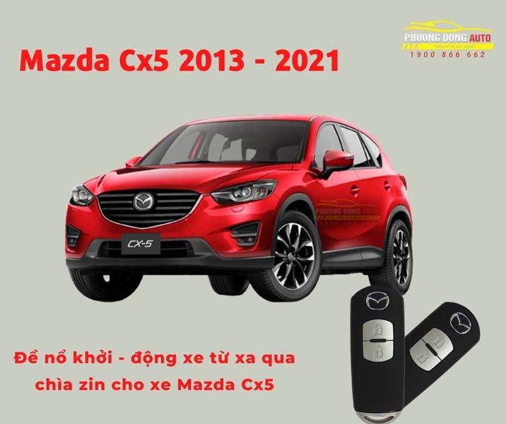 Đề Nổ Từ Xa Theo Xe Mazda – Sử dụng chìa zin