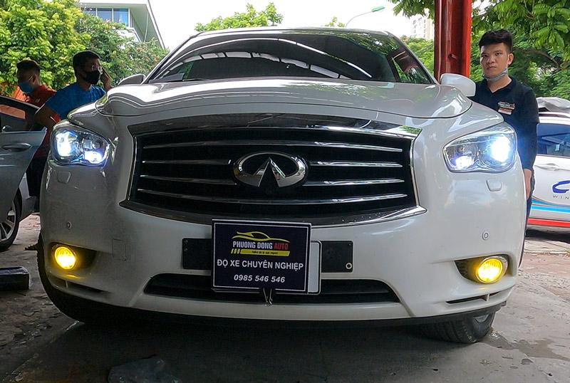 Độ đèn Nissan Infiniti QX60 | Bi Laser Titan Platinum