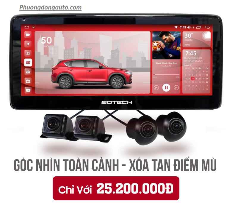 Màn hình liền camera 360 Gotech GT Mazda 360 | Bảng báo giá