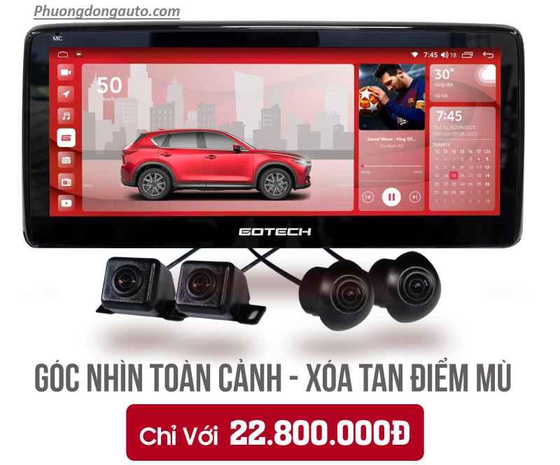 Màn liền camera 360 Gotech GT Mazda 360 Pro